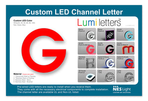 "NES Light LUMI Letter Sample Board [LL-SAMPLE-05] Size : 18"" x 12"""