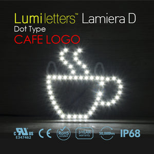 "LED Sign Art Dot Type ""Cafe Logo"""