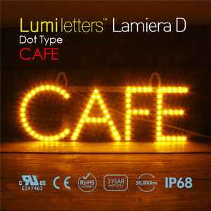 "LED Sign Art Dot Type ""CAFE"""
