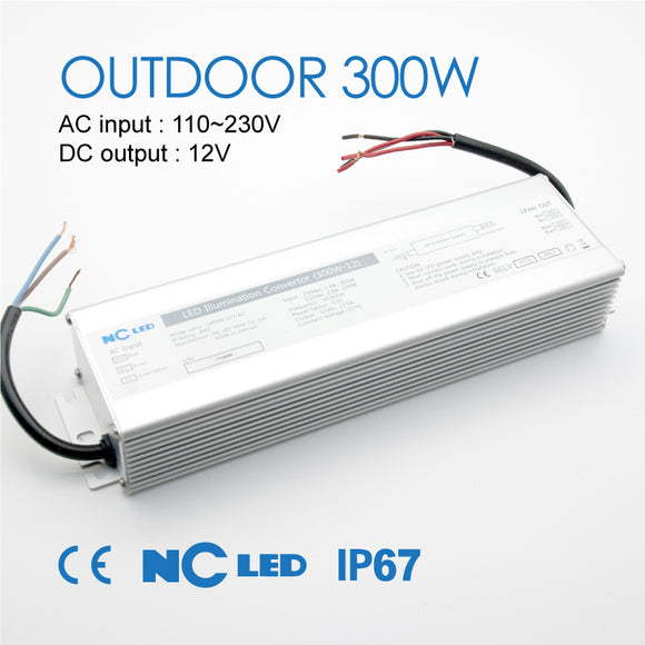 NC POWER SUPPLY 300W-12V OUTDOOR IP67