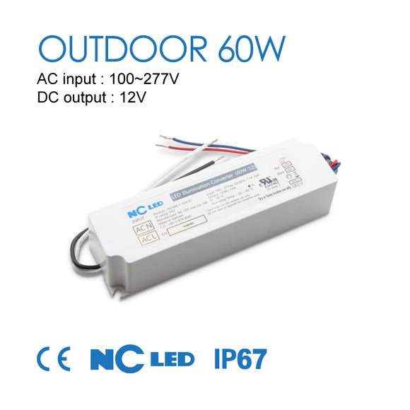 NC LED 60W-12V Outdoor Power Supply