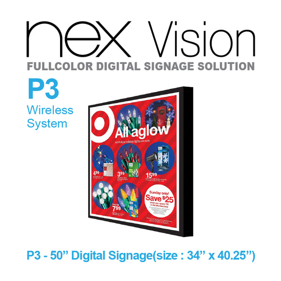 NEX Vision Fullcolor Digital Signage Solution P3
