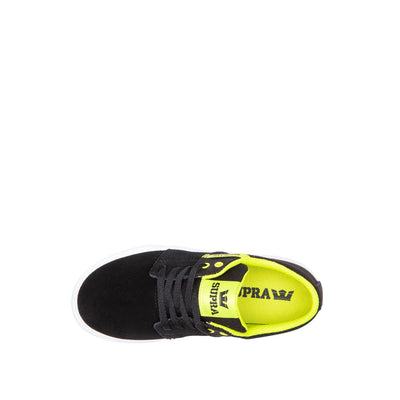 58193-048-M | KIDS STACKS II VULC | BLACK/LIME-WHITE