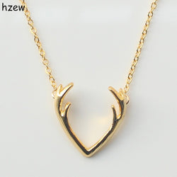 Unique Deer Horn Antler Necklace