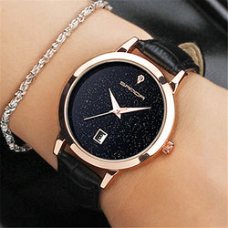 Waterproof Quartz leather watch for ladies
