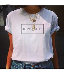 Give A Shit printed White T-shirts for women