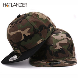 Camouflage snapback polyester cap