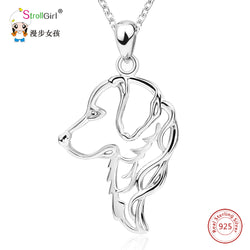 Sterling Silver Chain Dog Golden Retriever Pendants & Necklaces