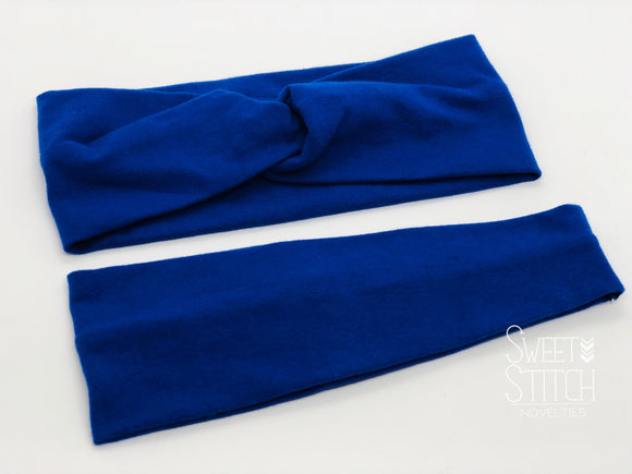 Royal Blue Headband-Turban Twist and Yoga Styles | Sweet Stitch Novelties - Sweet Stitch Novelties