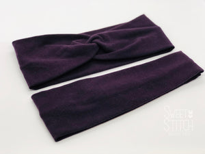 Plum Headband-Turban Twist and Yoga Styles | Sweet Stitch Novelties - Sweet Stitch Novelties