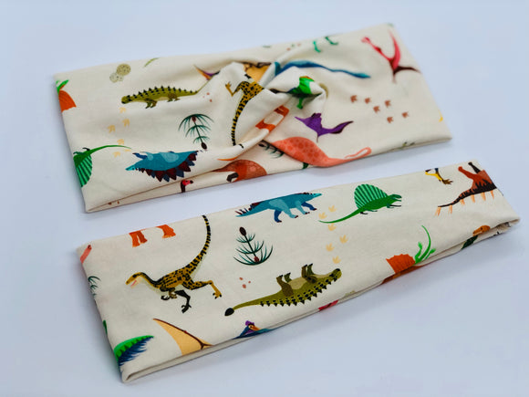 Dinosaur Headband-Turban Twist and Yoga Styles | Sweet Stitch Novelties - Sweet Stitch Novelties