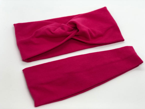 Hot Pink Headband-Turban Twist and Yoga Styles | Sweet Stitch Novelties - Sweet Stitch Novelties