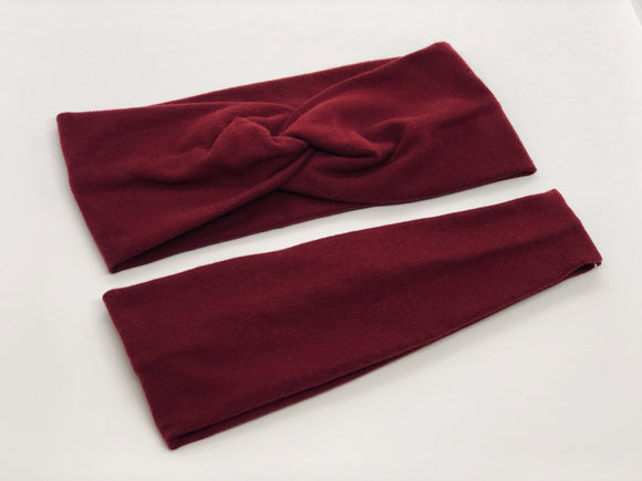 Burgundy Headband-Turban Twist and Yoga Styles | Sweet Stitch Novelties - Sweet Stitch Novelties