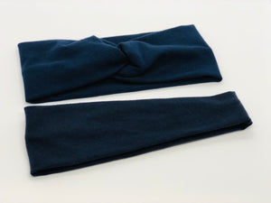 Navy Headband-Turban Twist and Yoga Styles | Sweet Stitch Novelties - Sweet Stitch Novelties