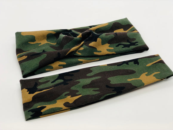 Camouflage Headband-Turban Twist and Yoga Styles | Sweet Stitch Novelties - Sweet Stitch Novelties