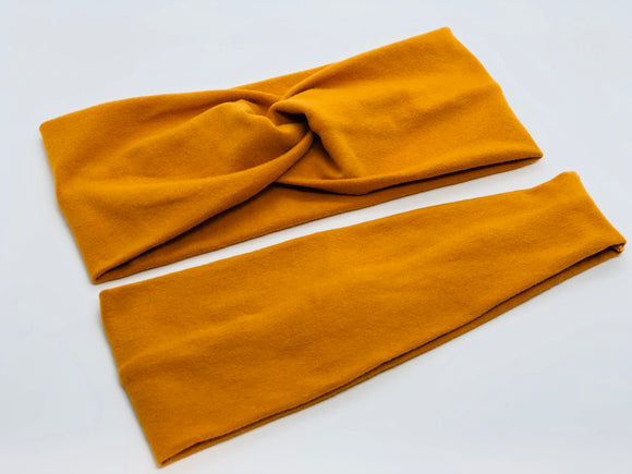 Mustard Headband-Turban Twist and Yoga Styles | Sweet Stitch Novelties - Sweet Stitch Novelties
