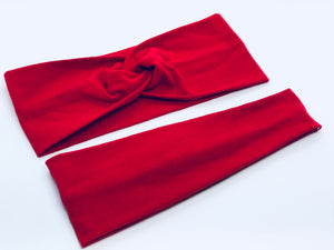 Red Headband-Turban Twist and Yoga Styles | Sweet Stitch Novelties - Sweet Stitch Novelties