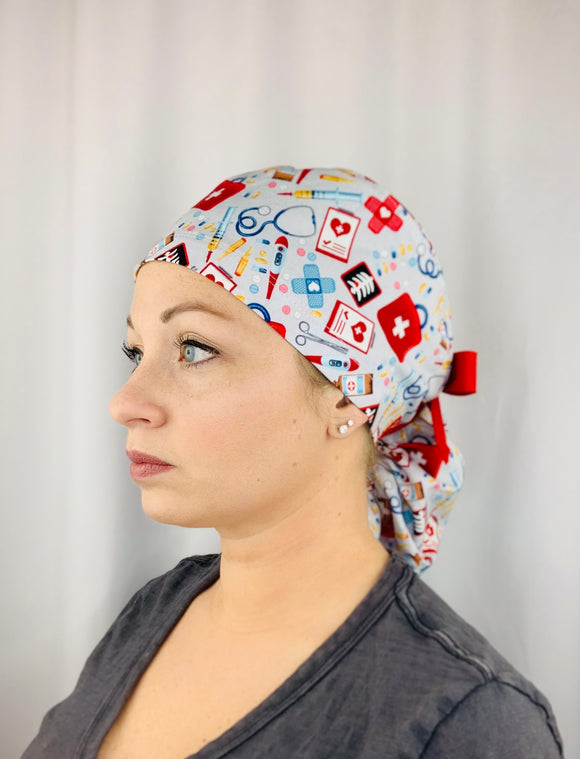 Medical Ponytail Scrub Cap
