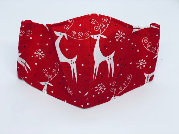Reindeer Fitted Face Mask