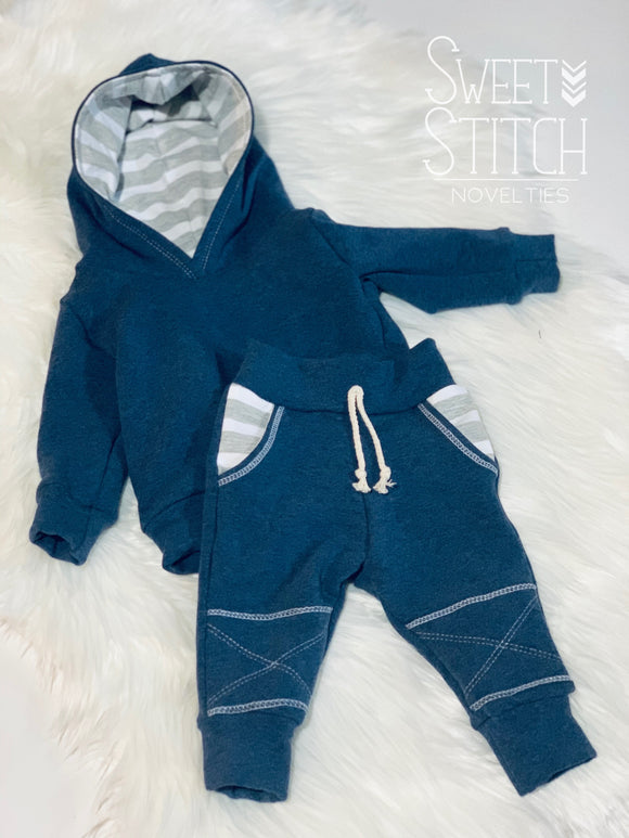Stripe Hoodie and Jogger Sets | Sweet Stitch Novelties