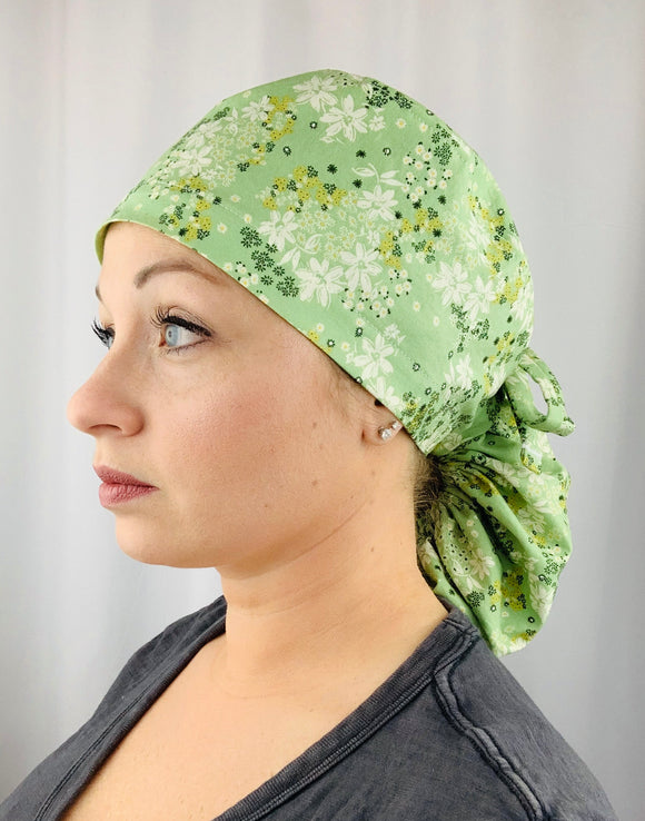 Meadow Ponytail Scrub Cap