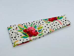 Dots and Flowers Headband-Turban Twist and Yoga Styles | Sweet Stitch Novelties