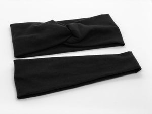 Black Headband-Turban Twist and Yoga Styles | Sweet Stitch Novelties - Sweet Stitch Novelties