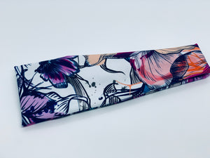 Graffiti Floral Headband-Turban Twist and Yoga Styles | Sweet Stitch Novelties