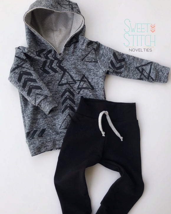 Arrow Hoodie and Faux Drawstring Jogger Set | Sweet Stitch Novelties - Sweet Stitch Novelties