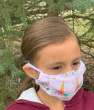 Butterfly Whimsy Fitted Face Mask