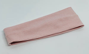 Rose Mini Stripe Headband-Turban Twist and Yoga Styles | Sweet Stitch Novelties