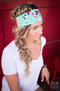 Teal Boho Headband-Turban Twist and Yoga Styles | Sweet Stitch Novelties - Sweet Stitch Novelties