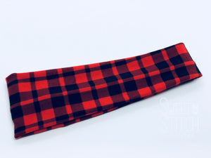 Buffalo Plaid Headband-Turban Twist and Yoga Styles  |  Sweet Stitch Novelties - Sweet Stitch Novelties