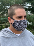 Gray Medallion Fitted Face Mask