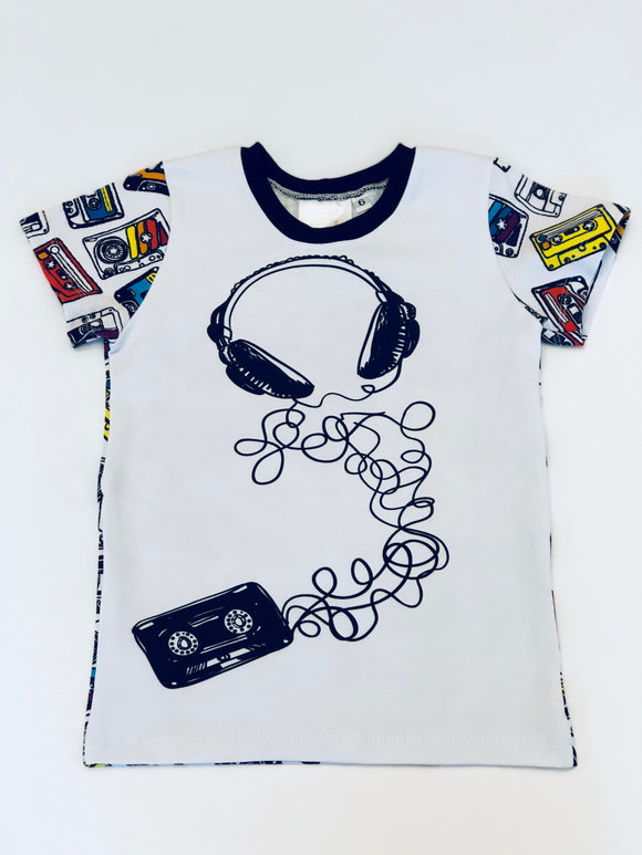 Mix Tape T-Shirt-Size 6T|  Children's Clothing - Sweet Stitch Novelties