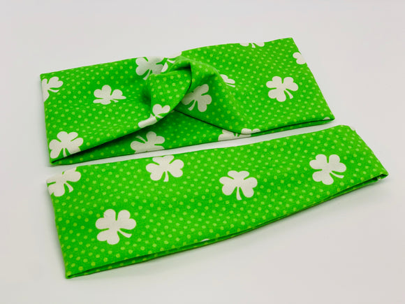 Shamrock Headband-Turban Twist and Yoga Styles | Sweet Stitch Novelties