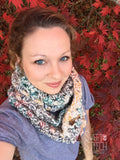 Olive Crocheted Infinity Scarf - Sweet Stitch Novelties