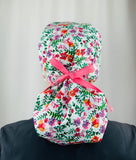 Wildflower Ponytail Scrub Cap