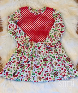 Holiday Twirl Dress-Size 3T|  Children's Clothing