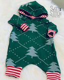 Hooded Christmas Romper  |  Sweet Stitch Novelties