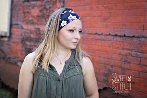 Twilight Garden Headband-Turban Twist and Yoga Styles | Sweet Stitch Novelties - Sweet Stitch Novelties