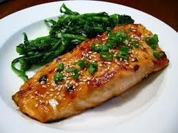 Broiled Fish with Sesame-Miso Glaze