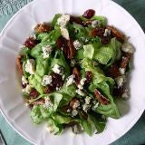 Baby Greens with Candied Pecans, Cranberries & Gorgonzola