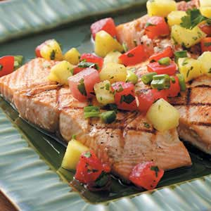 Grilled Fish with Fruit Salsa