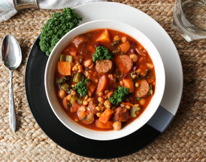Lentil Soup with Smoked Sausage- Frozen