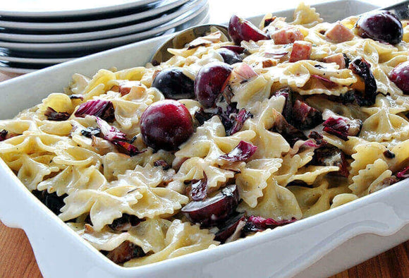 Grape, Walnut and Gorgonzola Pasta Salad