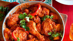 Pollo Salsa Rojo (Chicken Braised in Red Chili Sauce)