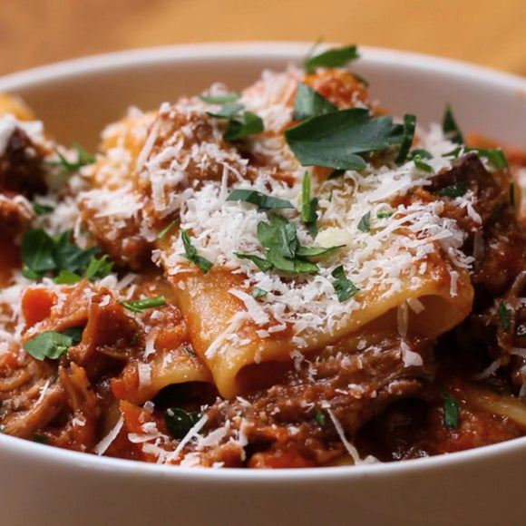 Braised Beef Short Ribs with Rigatoni