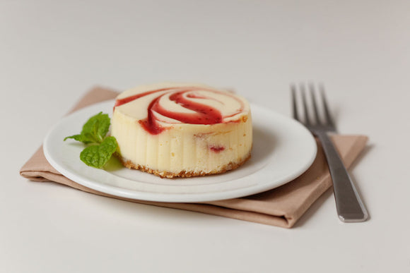 Chuckanut Bay White Chocolate Raspberry Cheesecake