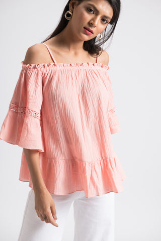 The Alexis Top - Peach